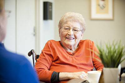 Elderly Woman Smiling - In Home Aged Care - ESP Healthcare