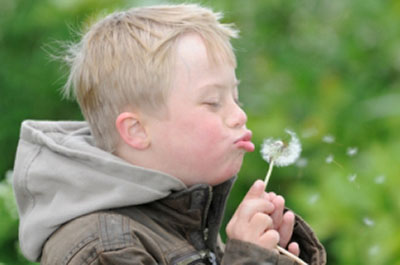 Boy With Special Needs Blows Dandelion - Care For Disabled - ESP Healthcare