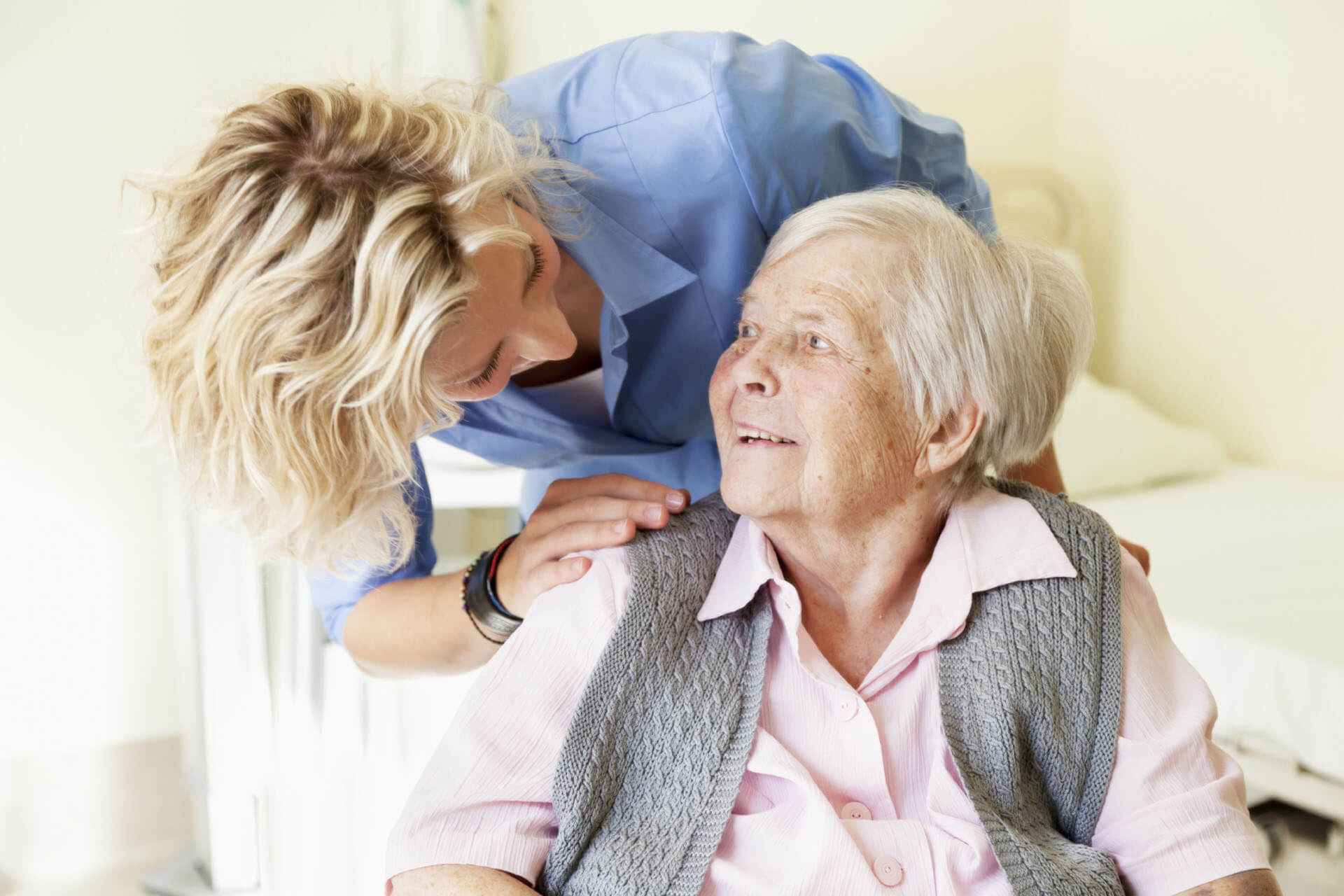 Elderly Woman Talking To The Female Nurse - In Home Aged Care - ESP Healthcare