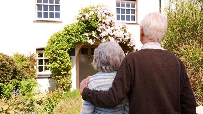 Older Couple Outside Their House - Home Care Solutions - ESP Healthcare