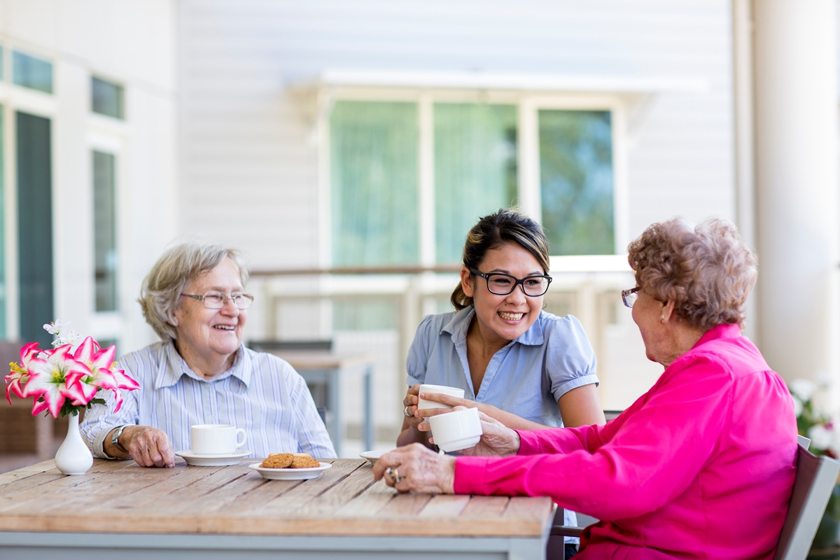 A Young Woman Enjoys Talking To two Older Women - Home Care Sydney - ESP Healthcare